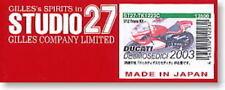 Studio 27 Transkit Ducati Desmosedici 2003, 1:12