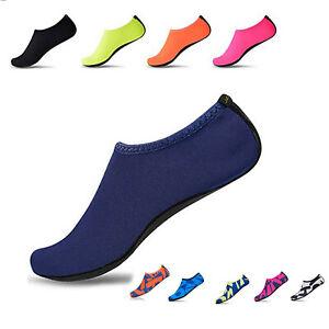 Adults Mens Water Shoes Aqua Socks Beach Swim Pool Surf Wetsuit Non Slip UK Size
