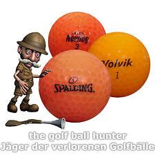 36 orange gebrauchte Marken Mix Golfbälle - Lakeballs in AAA-AA Qualität BU-5