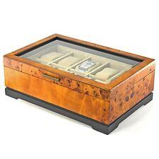 """Marlborough Wood Display Watch Case Dimensions 4""""H x 12.75""""W x 9""""W MAL22"""