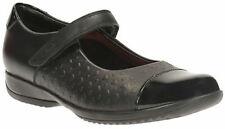 Clarks Girls School Shoes Black leather. Size UK 12 - 2 F, G