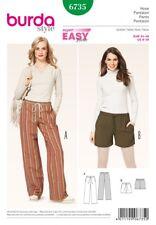 Burda Ladies Easy Sewing Pattern 6735 Casual Trouser Pants & Shorts (Burd...
