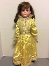 Antique 21� German Bisque Doll ~370 A.M. 3 Dep with Leather Body ~Good Condition