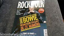 ZZ- REVISTA MAGAZINE ROCK & FOLK Nº433 - DAVID BOWIE - LISA MARIE PRESLEY - BRMC