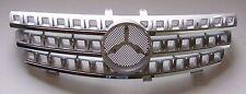 Front Grille Mercedes Benz W164 ML Class 2005-2008 Chrome & Silver w/Emblem