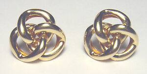 """Beautiful 14k Gold LOVE KNOT 3/4"""" EARRINGS 4.19 grams SIGNED NARCO"""