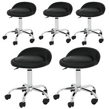 5X Adjustable Black Hydraulic Rolling Swivel Salon Stool Spa Rolling Chair