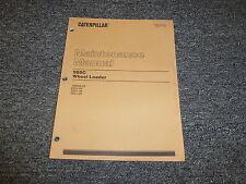 Caterpillar CAT 980C Wheel Loader Tractor Owner Operator Maintenance Manual Book
