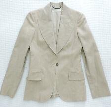 STELLA MCCARTNEY Silk Linen Button Blazer Lined Career Suit Jacket Sz 4 6 IT 40