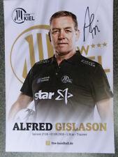 Alfred Gislason, THW Kiel, Handball, original Autogramm, DM 2018
