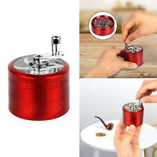 4 Layer Tobacco Herb Grinder Spice Herbal Zinc Alloy Smoke Hand Mill Crusher Red