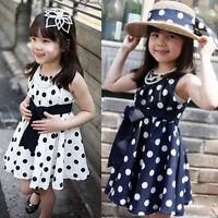 1PC Kids Children Clothing Polka Dot Girl Chiffon Sundress Dress Hottest I