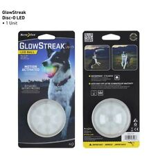 GLOWSTREAK LIGHT UP LED DISCO BALL NIGHT MOTION ACTIVATED DOG BALL CHUCK IT NEW