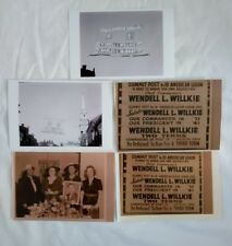 Vintage Wendell Willkie Campaign Photo Reprints