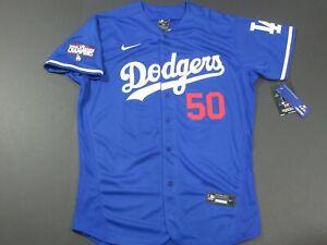 Mookie Betts #50 LA Dodgers 2020 World Series Champions Flex Base Jersey Blue