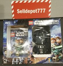 Brand New Lego Star Wars III: The Clone Wars (Wii) Game With Darth Vader Plush