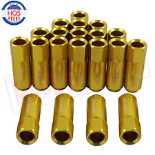 20PCS GOLD JDMSPEED M12X1.5 60MM EXTENDED FORGED ALUMINUM TUNER RACING LUG NUT