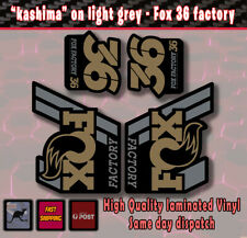 """FOX Factory 36 style Fork Decals Stickers """"kashima gold """"/grey/black  Laminated"""