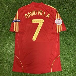 2008 Spain David Villa Jersey Shirt Kit Red Home Medium M Adidas Uefa Euro 7