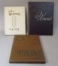 WENONAH  1945 1946 1947 Yearbook ~ Winona State Teachers College ~ Minnesota