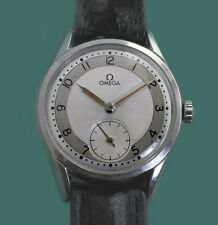 Omega Vintage 1954 Stainless Large men's Military Type Watch Caliber 266