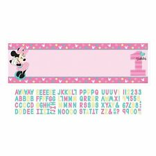 1st Birthday Minnie Mouse Personalized Banner Kit Party Supplies Minnie