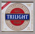 Trilight Extra Light Beer Label - Carling O'Keefe