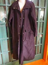 GALLERY BLACK LADIES TRENCH RAIN COAT w BELT SIZE 8