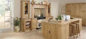 Solid Natural Oak(Burbidge Petworth) Kitchen units & doors Rigid Built Kitchens