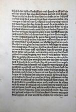 HIERONYMUS ALTVÄTER LEBEN INKUNABELBLATT AUGSBURG SORG HEILIGER JOHANNES 1482