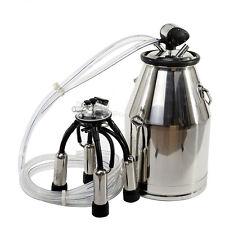 USA 25L Milker Bucket Tank Milking Barrel+ L80 Pneumatic Pulsator For Farm Cows