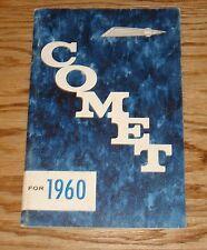 Original 1960 Mercury Comet Owners Operators Manual 60