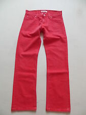 Levi's ® 506 Jeans Hose, W 33 /L 32, ROT ! Special Coloured RED washed Denim !