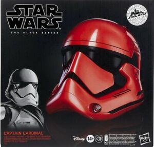 Star Wars Hasbro Black Series Galaxy's Edge Captain Cardinal Helmet + Plaque