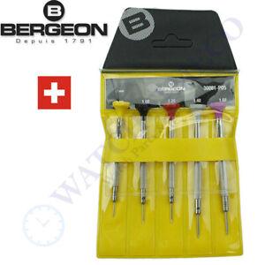 Bergeon 30081-P05 Set of 5 Watchmakers Ergonomic Screwdrivers - Swiss Made NEW