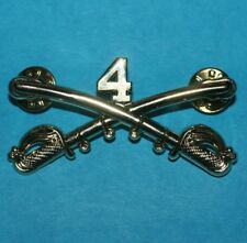 4th US CAVALRY REGIMENT 1861 Crossed Sabers Colonel ROBERT E. LEE LAPEL HAT PIN