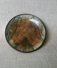 Rare Carl Cooper dish. Abstract aboriginal design with fish.