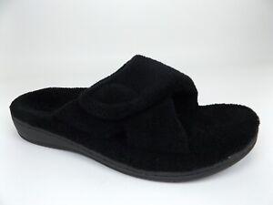 Vionic Relax Orthaheel Orthotic Slip-on Slippers Women's  SZ 8.0 M, Black, 17727