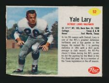 1962 Post Cereal FOOTBALL -#52 YALE LARY (Detroit Lions) *HOF*