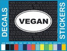 VEGAN Animal rights save vegetarian eat healthy window Sticker Vinyl Decal 2