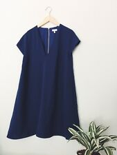 BRAND NEW TOBI WOMENS FORMAL BABY SHOWER WEDDING DRESS NAVY BLUE VNECK S