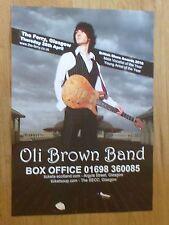 Oli Brown Band - Glasgow april 2011 tour concert gig poster