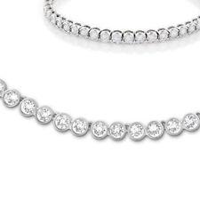 EXTENDER ONLY Tennis Necklace Earrings Silver Bracelet set Swarovski Elements