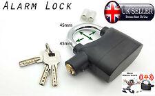 110db Alarma Moto Caseta Sensor De Movimiento Alarma Pad Lock Industrial Garaje negro