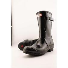 Hunter Orignal Short Black Gloss Womens Wellington BOOTS 6 UK 39 EU 8 US