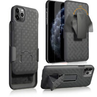 For Apple iPhone 11/11 Pro/11 Pro Max Belt Clip Holster Case with Tempered Glass