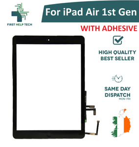 For iPad Air 1st Gen Digitizer Touch Screen Glass Home Button Black A1474 New