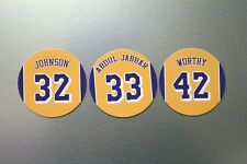 Los Angeles Lakers Magnet Set: Showtime Lakers: Johnson Worthy Abdul-Jabbar