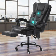 More details for luxury massage computer office desk gaming chair swivel recliner w/ footrest uk