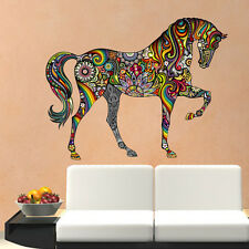 DIY Colorful Animal Horse Wall Sticker Mural Decal Vinyl Kids Room Home Decor